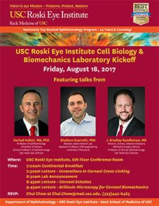 New Research Laboratory for Ocular Cell Biology and Biomechanics at USC
